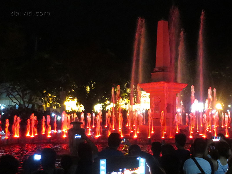 Dancing Fountain in Vigan, Ilocos Sur